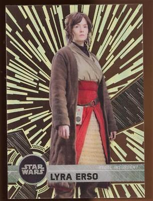 2017 TOPPS HIGH TEK STAR WARS LYRA ERSO  #79 PATTERN 2 FORM 2