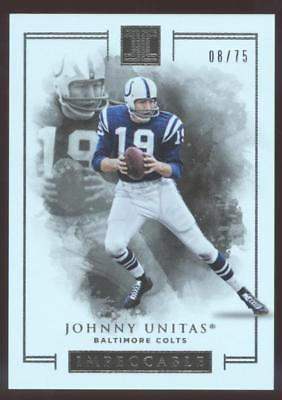 2016 PANINI IMPECCABLE FB JOHNNY UNITAS #31 BASE #08/75 COLTS
