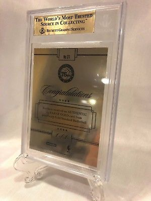 Image of 2016-17 Panini Gold Standard Solid Gold #31 Ben Simmons True 1/1 RC BGS SIXERS