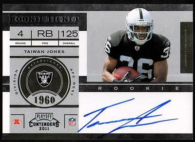 JC 2011 Playoff Contenders #210 Taiwan Jones Autograph AUTO