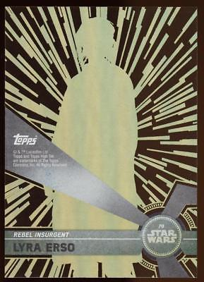 Image of 2017 TOPPS HIGH TEK STAR WARS LYRA ERSO  #79 PATTERN 2 FORM 2