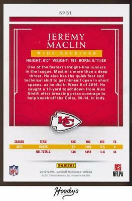 Image of 2016 Panini National Treasures Holo Silver #51 Jeremy Maclin 18/25 CHIEFS
