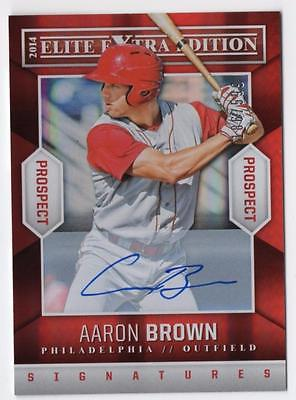 ET 2014 Elite Extra Edition Prospects Signatures #46 Aaron Brown AUTO /599
