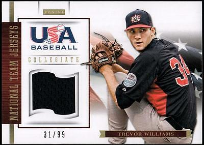 ET 2012 USA Baseball Collegiate National Team Jerseys #23 Trevor Williams #31/99