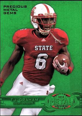 PH) 	2012 Fleer Retro Metal Universe Precious Metal Gems Green T.J.Graham #09/10