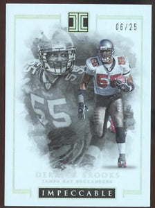 2016 PANINI IMPECCABLE FB DERRICK BROOKS #12 SILVER #06/25 BUCCANEERS