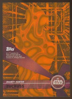 Image of 2017 Topps Star Wars High Tek Orange Magma Diffractors #55 Zuckuss 05/25
