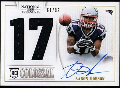 JC 2013 National Treasures Rookie Colossal Jsy. Number Auto Aaaron Dobson #61/99