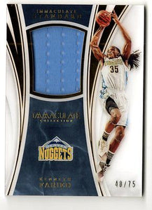 2015-16 Immaculate Collection Standard Materials Kenneth Faried Jersey 40/75