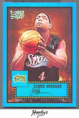Image of 2005-06 Topps Style Chrome Refractors Blue #58 Chris Webber 064/149 SIXERS