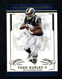 ET) 2016 Panini National Treasures Gold #53 Todd Gurley II 19/49 RAMS