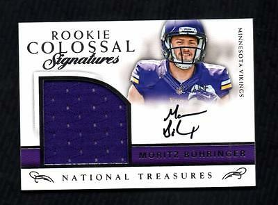 ET) 2016 National Treasures Moritz Bohringer Colossal Jersey AUTO 60/99 RC