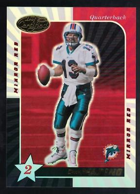 Image of 2000 Leaf Certified Mirror Red #127 Dan Marino DOLPHINS
