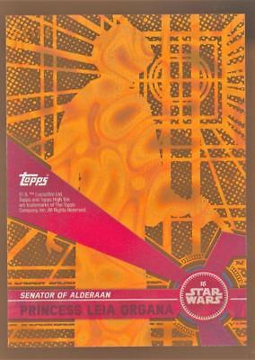 2017 Topps Star Wars High Tek Orange Magma Diffractor Princess Leia Organa 09/25