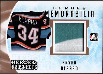 ET) 2016-17 ITG Heroes and Prospects Heroes Memorabilia  Bryan Berard PATCH