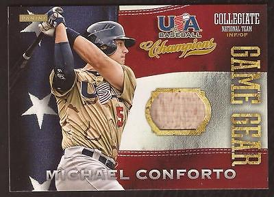ET 2013 USA Baseball Champions Game Gear Michael Conforto Game Used Bat Mets