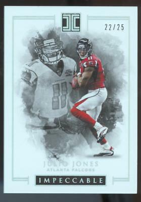 2016 PANINI IMPECCABLE FB JULIO JONES #37 SILVER #22/25 ATLANTA FALCONS
