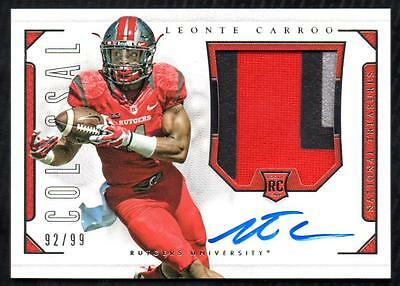 ET 2016 National Treasures Collegiate Colossal #226 Leonte Carroo PATCH AUTO /99