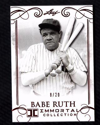 ET) 2017 Leaf Babe Ruth Immortal Collection Red Spectrum #49 Babe Ruth 8/20