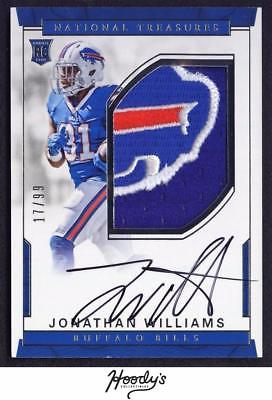 2016 National Treasures Jonathan Williams RPA LOGO PATCH AUTO 17/99 BILLS RC