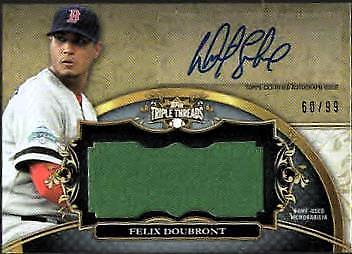 ZB) 2013 TRIPLE THREADS BB FELIX DOUBRONT AUTO RELIC #60/99 RED SOX