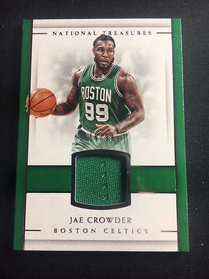 ET) 2016-17 National Treasures Material Treasures #33 Jae Crowder Jersey 16/99