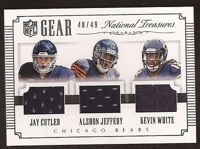 JC 2015 National Treasures NFL Gear Cutler, Jeffery, Kevin White Jersey 48/49