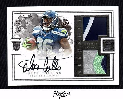 2016 Panini Impeccable #189 Alex Collins Helmet PATCH AUTO 52/75 SEAHAWKS RC