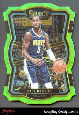 Image of 2017-18 Select Prizms Die Cut Neon Green #168 Will Barton 5/65 Die Cut NUGGETS