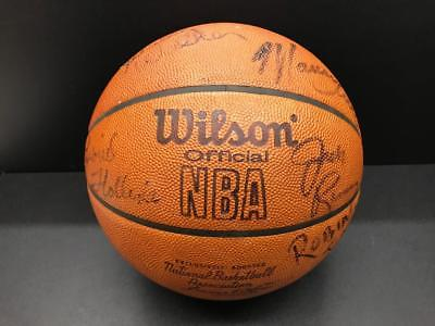 1976-77 Autograph Trail Blazers NBA Champions Team Ball Bill Walton, Ramsey AUTO