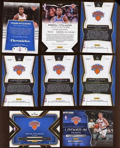 (8) Card Lot New York KNICKS Select, Tri Color Etc, Relic, AUTO RC's Ntilikina