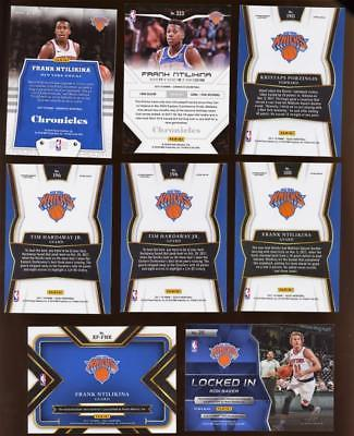 Image of (8) Card Lot New York KNICKS Select, Tri Color Etc, Relic, AUTO RC's Ntilikina