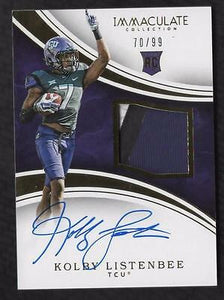 ET) 2016 Immaculate Collection Collegiate Kolby Listenbee RPA PATCH AUTO 70/99