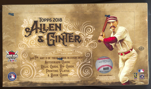 2018 Topps Allen & Ginter Baseball Hobby Box
