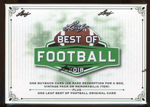 2018 Leaf Best of Football Hobby Box