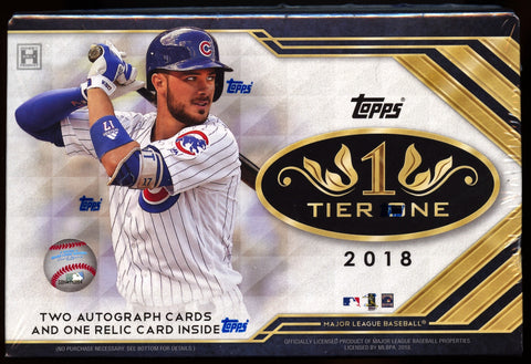 2018 Topps Tier One Baseball Hobby Box