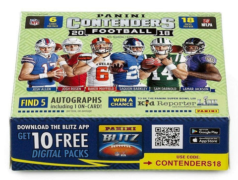 2018 Panini Contenders Football Case Break (Random Team)