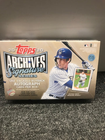 2020 TOPPS ARCHIVES SIGNATURE ACTIVE BOX