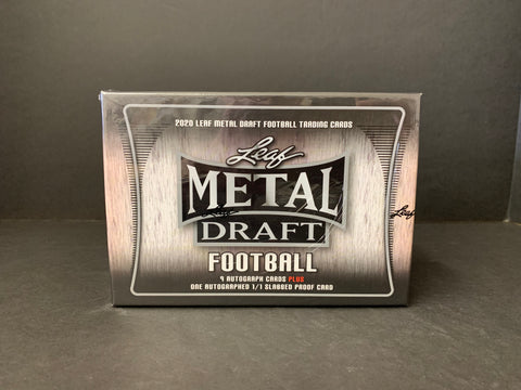 2020 LEAF METAL FOOTBALL JUMBO BOX