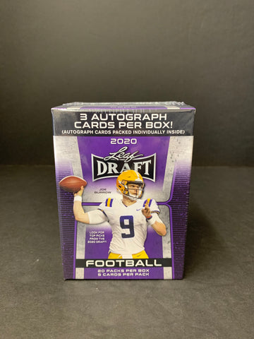 2020 LEAF DRAFT FOOTBALL HOBBY BLASTER