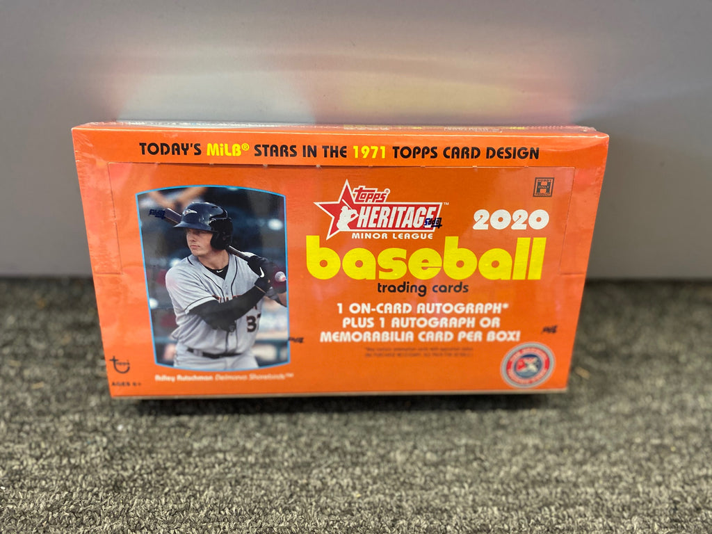 2020 TOPPS HERITAGE MINOR LEAGUE BOX