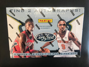 2019-20 CERTIFIED BASKETBALL HOBBY BOX