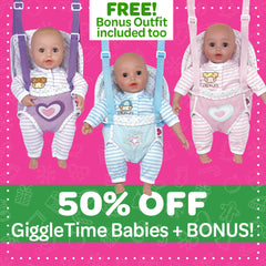 BLACK FRIDAY - Buy a GiggleTime Baby for 50% OFF and get an Outfit FREE!
