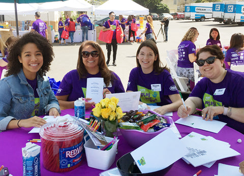 Adora and Paradise Galleries from Charisma Brands volunteers for Play your Part LA