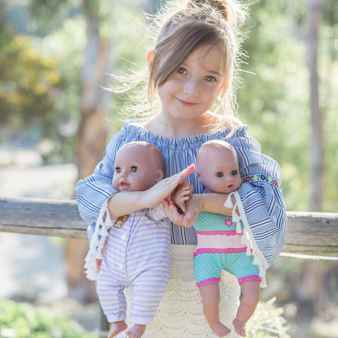 Adora Kid with two baby dolls