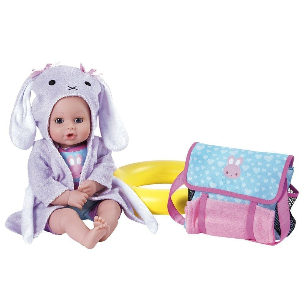 "7-Piece BathTime Baby Gift Set - 13"" Baby doll & 6 Accessories 