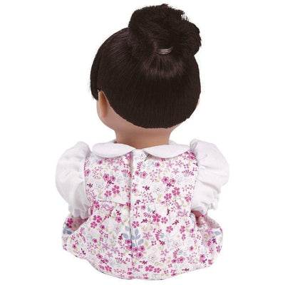 "Adora Playtime Baby Doll, 13"" Asian Vinyl Baby Doll Floral Romper, Ages 1+"