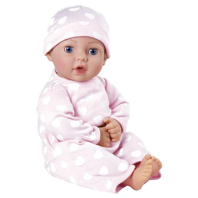 "Adora 16"" Vinyl Girl Baby Doll - Birthday Baby Gift Set, Adorable Play Set for Ages 3+"
