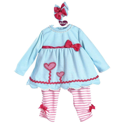 "Adora Baby Doll Clothes & Dresses for 20"" inch Doll Blooming Hearts Outfit"