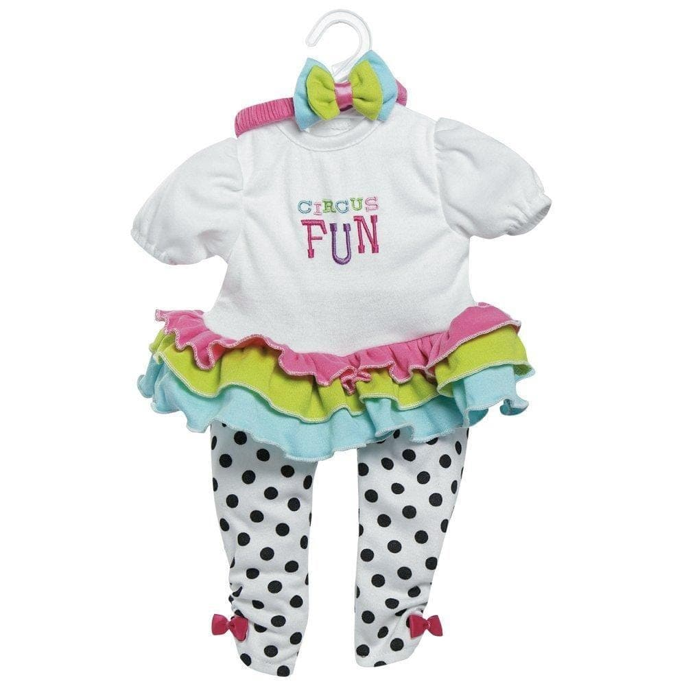 Circus Fun Outfit Baby Doll Clothes Fits 20 Inch Toddlertime Doll